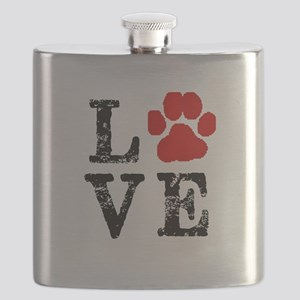 Love with a paw Flask