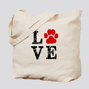 Love with a paw Tote Bag