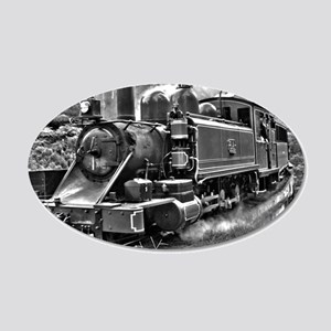 Black and White Vintage Steam Train Engine 20x12 O