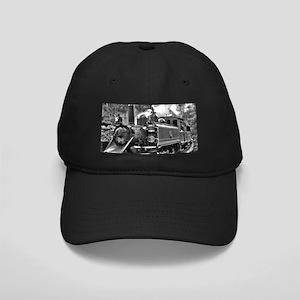 Black and White Vintage Steam Train Engine Black C