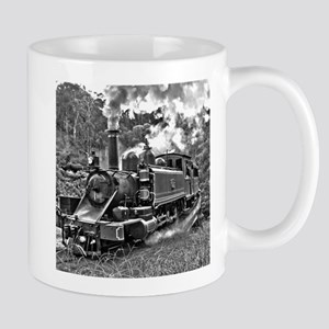 Black and White Vintage Steam Train Engine Mug