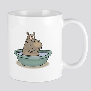 Hippo Bathing in tub Mugs