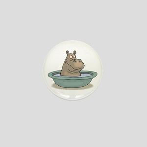 Hippo Bathing in tub Mini Button