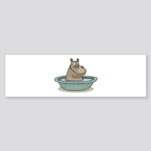 Hippo Bathing in tub Bumper Sticker