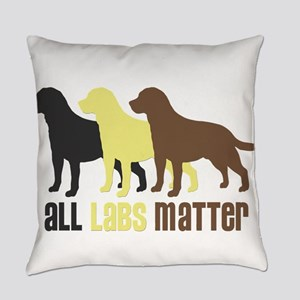 All Labs Matter Everyday Pillow