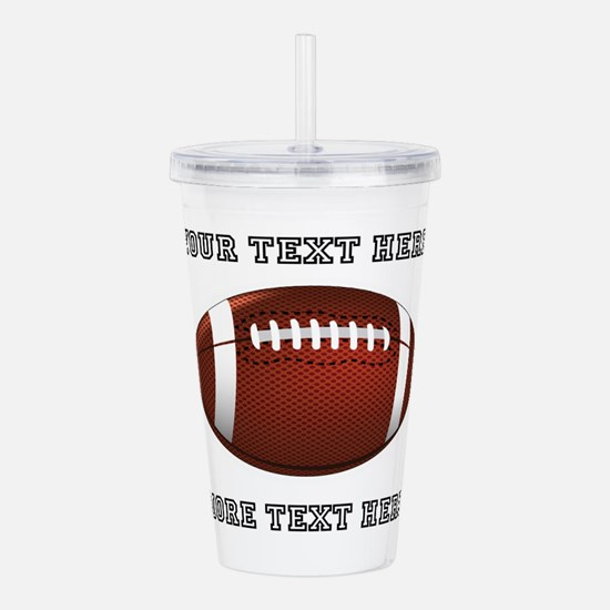 Personalized Football Acrylic Double-Wall Tumbler