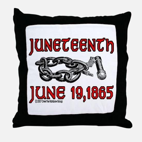 """""""June19, 1865"""" Throw Pillow"""