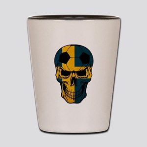 Sweden Soccer skull Shot Glass