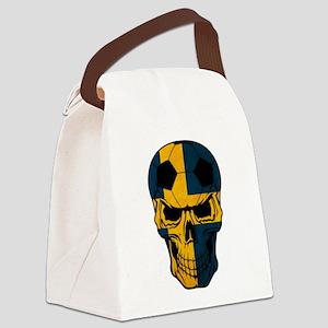 Sweden Soccer skull Canvas Lunch Bag