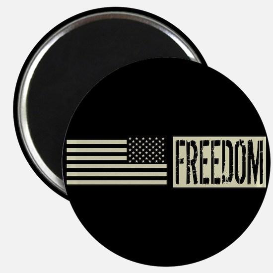 Freedom: Black, Backwards Military Deployme Magnet