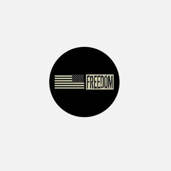 Freedom: Black, Backwards Military Dep Mini Button