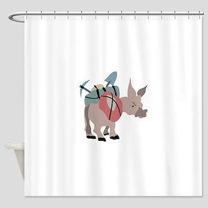 Pack Mule Shower Curtain