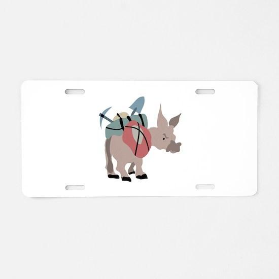 Pack Mule Aluminum License Plate