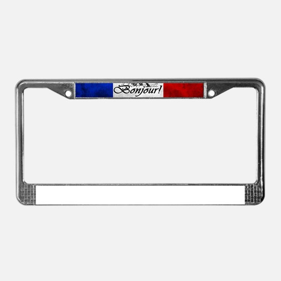 PARIS FRANCE FLAG EIFFEL TOWER License Plate Frame