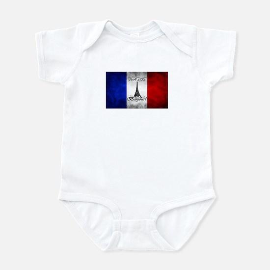 PARIS FRANCE FLAG EIFFEL TOWER Body Suit