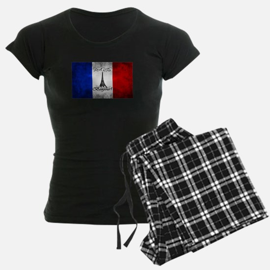 PARIS FRANCE FLAG EIFFEL TOW Pajamas