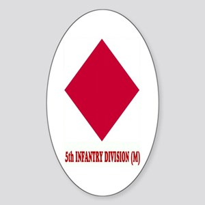 5th INFANTRY (M) Oval Sticker