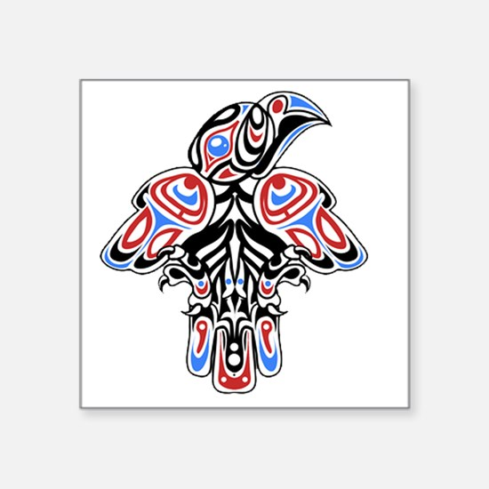 "Funny Alaska eagle Square Sticker 3"" x 3"""