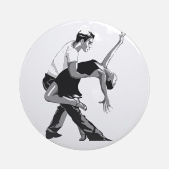 Salsa dancers Round Ornament