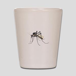 Brown mosquito Shot Glass