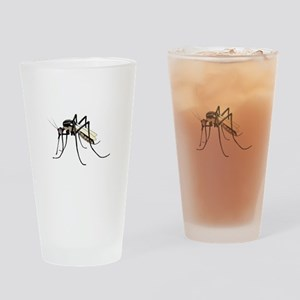 Brown mosquito Drinking Glass