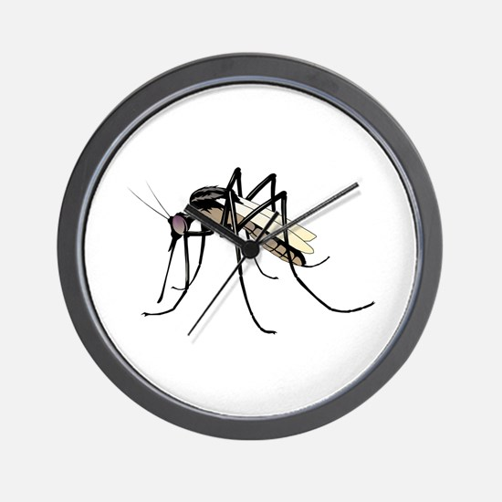 Brown mosquito Wall Clock