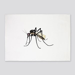 Brown mosquito 5'x7'Area Rug