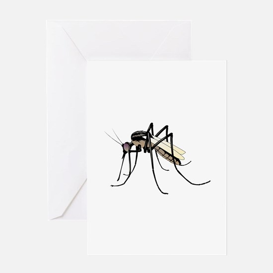 Brown mosquito Greeting Cards
