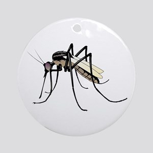 Brown mosquito Round Ornament