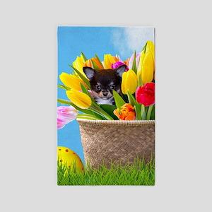 Easter Chihuahua Area Rug