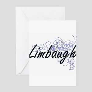 Limbaugh surname artistic design wi Greeting Cards