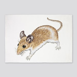 white mouse 5'x7'Area Rug