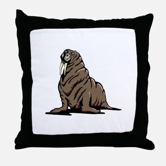 Walrus sitting Throw Pillow