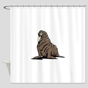 Walrus sitting Shower Curtain