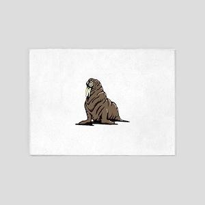Walrus sitting 5'x7'Area Rug