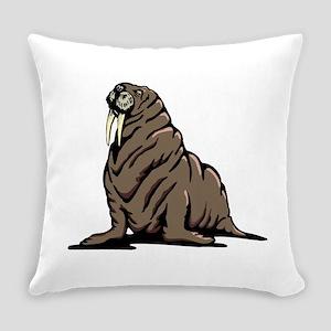 Walrus sitting Everyday Pillow