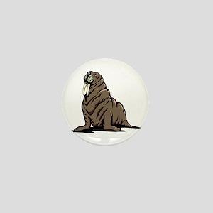 Walrus sitting Mini Button