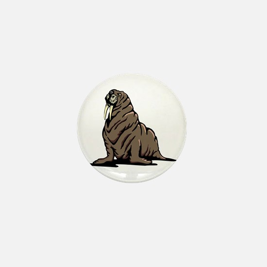 Walrus sitting Mini Button