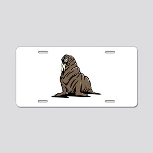 Walrus sitting Aluminum License Plate