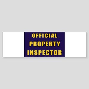 OFFICIAL PROPERTY INSPECTOR Bumper Sticker