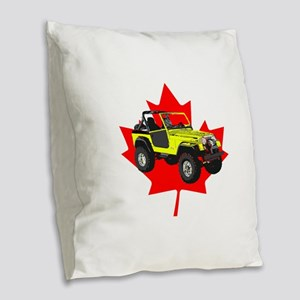 Maple Leaf CJ Burlap Throw Pillow