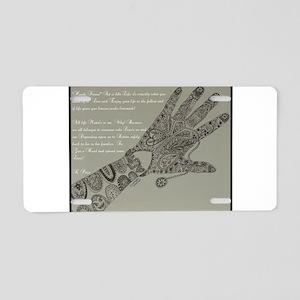 HENNA HAND Aluminum License Plate