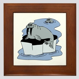 Walruses Framed Tile