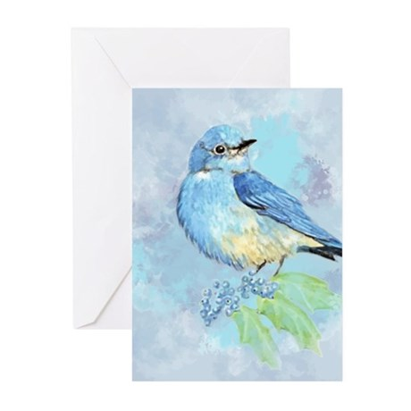 Watercolor bluebird blue bird art greeting cards by barkettc m4hsunfo Image collections