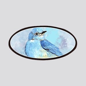 Watercolor Bluebird Blue Bird Art Patch