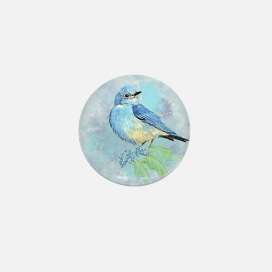 Watercolor Bluebird Blue Bird Art Mini Button