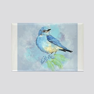 Watercolor Bluebird Blue Bird Art Magnets