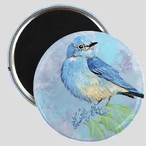 Watercolor Bluebird Blue Bird Art Magnets