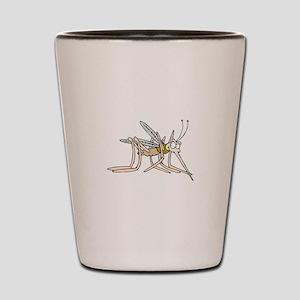 Mosquito bite Shot Glass