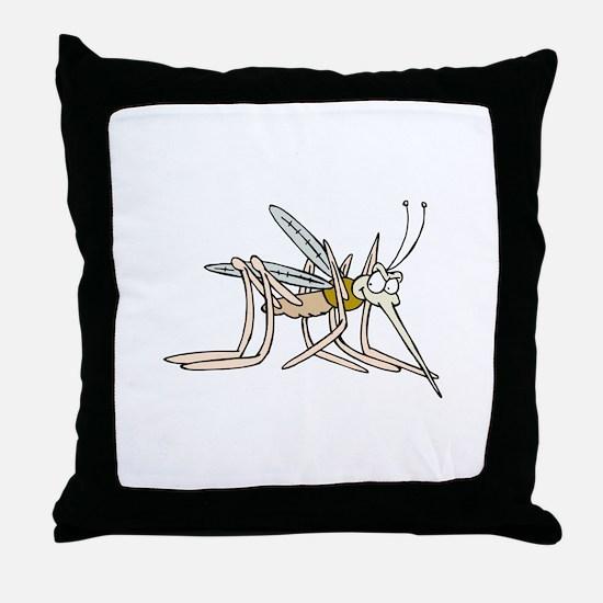 Mosquito bite Throw Pillow